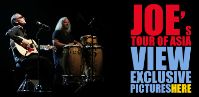 Joe's tour of Asia. Watch exclusive pictures of the shows in Singapore and Tokyo!